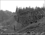 Trestle and fill at camp 15, Chumstick cutoff, September 28, 1927