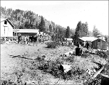 Workers cabins at Camp  9, Chumstick cutoff, July 22, 1927