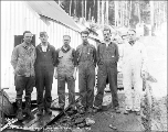 Hoist engine crew, Mill Creek, October 21, 1927