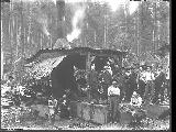 Donkey engine and logging crew, Snohomish County, ca. 1911