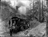Construction on county road showing Little Giant steam shovel, August 12, 1911