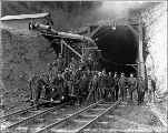 Tunnel crew at Camp 11, Chumstick Cutoff, November 11, 1927