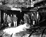 Pump discharge from flood in main tunnel, June 30, 1928