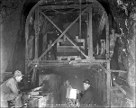 Concrete machine inside the tunnel, Scenic, February 12, 1928