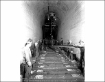 Laying rails on Chumstick Cutoff in Winton Tunnel, ca. 1928