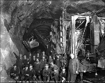 Crew at cross cut 10, Cascade Tunnel, October 3, 1928