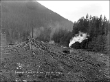 Clearing the Great Northern Railroad right of way, Scenic, n.d.
