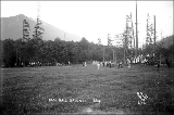 Baseball field showing baseball game, Skykomish, ca. 1913