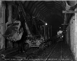 Marion excavator in Chumstick Tunnel, November 11, 1927