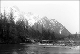 Heybrook's Bridge over the Skykomish River and Mt. Persis, n.d.