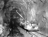 Concrete train in tunnel, September 30, 1928