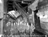 Last shovel gang in the Cascade Tunnel, December 8, 1928
