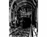 Concrete machine in tunnel, Camp 16, Winton, August 10, 1928
