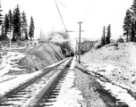Great Northern Railway train and tracks, ca. 1928
