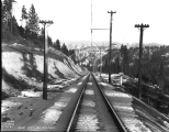 Great Northern Railway track, Cascade Mountains, 1928