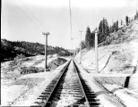 Great Nothern Railway track in upper end of the Chumstick Valley, ca. 1928