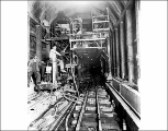 A. Guthrie and Co. concrete machine from camp 16 in Winton Tunnel, August 10, 1928