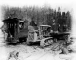 Caterpillar tractor at Camp 15, near the Winton Tunnel, August 10, 1928