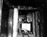 Miners loading ore into railroad cars, Sunset Copper Co. , Index,  ca. 1929