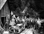 Miners going on shift at the Sunset Copper Co. mine, Index, November 7, 1929