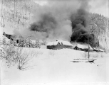 Burning the A. Guthrie and Co. camp at Berne, Jaunary 1929
