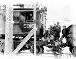Great Northern Railway work train, January, 1929