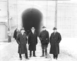 Great Northern Railway Co. officials at Cascade Tunnel entrance, 1929