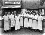 Cooks and kitchen help, A. Guthrie and Co. camp, Berne, ca. 1928