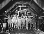 Crew that poured the last batch of cement in the Cascade Tunnel, December 24, 1928