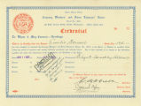 Cannery Workers and Farm Laborers Union Local 18257 credential for Emilio Domail authorizing him...