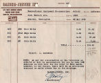 Daiber-Jensen, Inc. invoice to the Recreational Equipment Cooperative referencing a war-related...