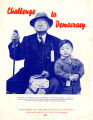 """Challenge to Democracy"" a pamphlet advertising a short film about the relocation of..."