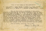 Notice of the first meeting of the Mountaineers, June 6, 1913