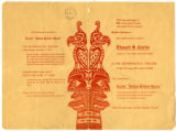 "Program for the first production in the West of Curtis' ""Indian Picture Opera"" at the..."