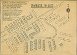 Map of the administration area of the Minidoka internment camp from the Minidoka Irrigator...
