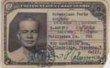 Potenciano Parin Columna  Coast Guard identification card, April 11, 1951
