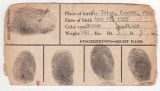 Civil Aeronautics Administration fingerprint identification card for Potenciano Parin Columna,...