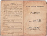 P.P. Columna (also known as Potenciano Parin Columna) driving permit, January 3, 1945