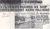 "Article from the Bakersfield Californian titled ""L.A. Fliers Injured as Ship Crashes Against..."