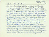 Mitsuko Hirabayashi letter to Fred and Mabel Ring thanking them for their support throughout...