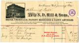 N. D. Hills and Sons, Wholesale and Retail Dealers in Drugs, Chemicals, Patent Medicines and Fancy...