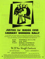 Justice for Wards Cove Cannery Workers flyer advertising rally, July 6, 1994
