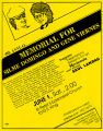 Committee for Justice for Domingo and Viernes fourth annual memorial event flyer, June 1, 1985