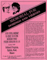 Committee for Justice for Domingo and Viernes 7th annual memorial event flyer, June 12, 1988
