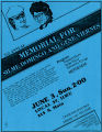 Committee for Justice for Domingo and Viernes third annual memorial event flyer, June 3, 1984