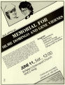 Committee for Justice for Domingo and Viernes second annual memorial even flyer, June 11, 1983