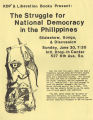 "Union of Democratic Filipinos (KDP) and Liberation Books flyer advertising ""The Struggle for..."