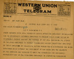 J.G. Luhrsen of the American Train Dispatchers Association telegram to Senator Miles Poindexter...