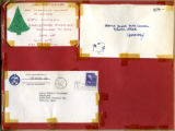 Christmas invitations addressed to the Ontarions fraternity, December 16, 1953