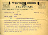 Spokane Daily Chronicle telegram to Senator Wesley Jones regarding liquor smuggling from Canada to...